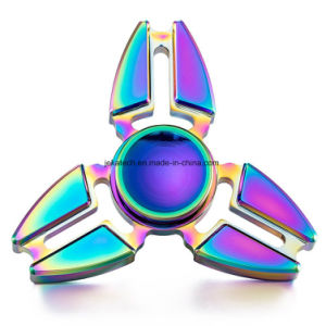 Aluminum Alloy Rainbow Crab Claw Fidget Hand Spinner pictures & photos
