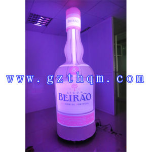 Inflatable Advertising Bottle Model for Display/Giant Inflatable Beer Bottle Model for Advertising pictures & photos