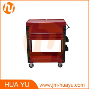 Professional Tool Trolleys / Dental Tool Cart with Drawers Red Color pictures & photos
