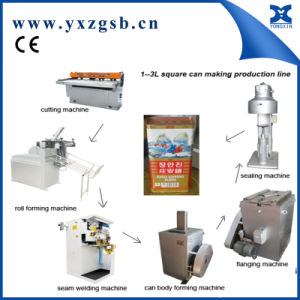 Semi-Automatic Tin Can Making Machine of Big Rectangular Paint Can pictures & photos