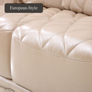 China Simple European Living Room Leather Sofa Set - China Sofa ...