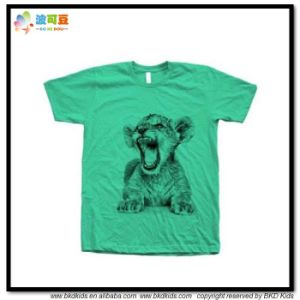 Grreen Color Baby Clothes Screen Printing Children Shirtt pictures & photos