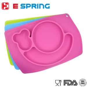 Snail Shape Table Plate Silicone Colorful Plate for Baby Feeding pictures & photos