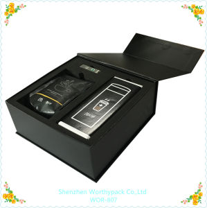 Matt Black Folding Gift Packaging Box with Custom Logo Printing pictures & photos