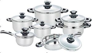 13PCS Stainless Steel Wide Edge Cookware Set pictures & photos