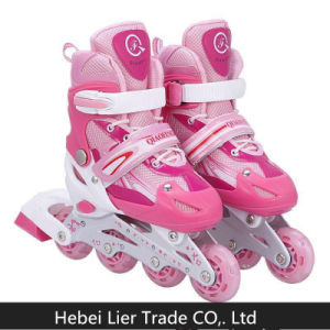 Custom Inline Skates Shoes Manufacturer Double Row Kids Roller Skate pictures & photos