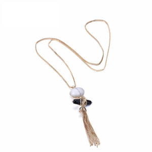 Fashion Tassel Round Necklaces & Pendants for Women Natural White Stone Alloy Chain Necklace Jewellery pictures & photos