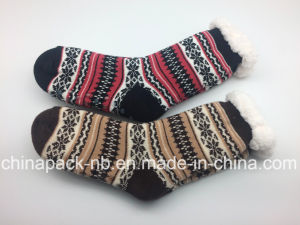 Long Cotton Socks Homesocks Plus Velvet Thickening Socks pictures & photos