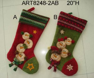 Christmas Decoration Snowman Family Stocking, 3asst- pictures & photos