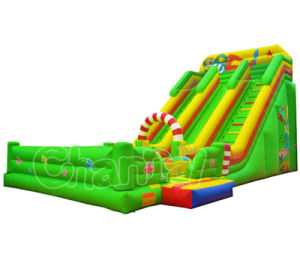 Wholesale Cartoon Theme Castle Inflatable Slide with Toys pictures & photos