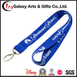 Flat Polyester Custom Printed Lanyard with Logo No Minunim Order pictures & photos