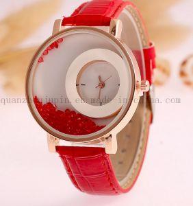 OEM Quicksand Ladies Quartz Watch with Leather Bracelet pictures & photos
