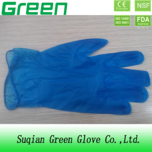 Blue Disposable Food Vinyl Gloves pictures & photos