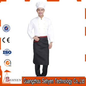 Custom Sets of White Cotton Long Sleeve Chef Uniform pictures & photos