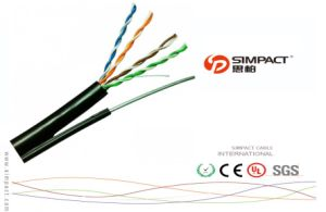 Outdoor Duplex UTP Cat5e 2*4p Cable pictures & photos