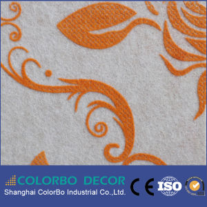 General Noise Control Flocking Polyester Fiber Acoustic Panel pictures & photos