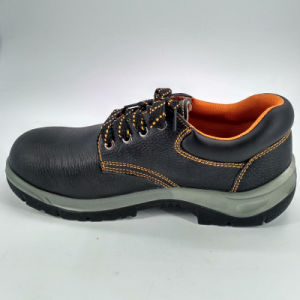 Men Black Leather Working Safety Shoes Ufe034 pictures & photos
