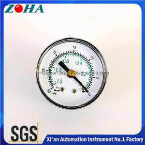 Vacuum Pressure Gauge -1bar~0/ -30inhg~0 Double Scale ABS ASA Case pictures & photos