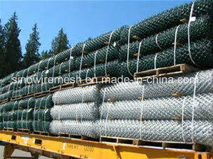 Hot Dipped Galvanized Knitted Temporary PVC Coated Chain Link Fence pictures & photos