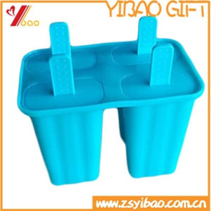 Custom 4cells FDA Silicone Ice Mold /Ice Cube Tray /Ice Maker pictures & photos