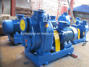 Ductile Iron Material Self Priming Trash Pump with Motor and Base Plate pictures & photos