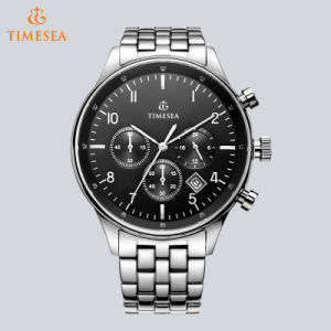Men′s Date Multifunction Chronograph Stainless Steel Black Dial Watch 72680 pictures & photos