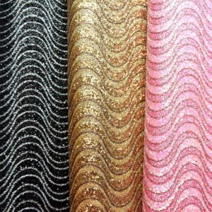Glitter Synthetic Artificial Leather for Shoes, Bags, Furniture, Decoration, Garment (HS-Y105) pictures & photos