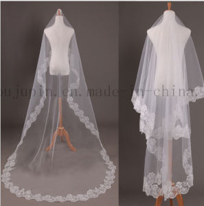Custom Length Hot Sale Lace Wedding Bridal Veil pictures & photos
