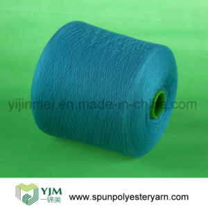 Virgin Color Dyed Yarn with Polyester Staple Fiber pictures & photos