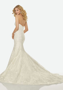 Factory Wholesale Classic Style Strapless Mermaid Wedding Dress pictures & photos
