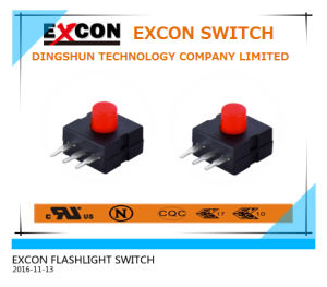 Square Tact Switch with Flat Terminal for Flashlight Products pictures & photos
