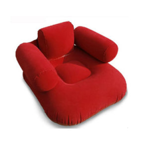 Flocked PVC Inflatable Red Sofa Chair pictures & photos