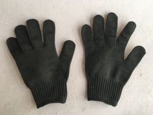 Black Hppe Liner Metal Mesh Anti-Cut Work Glove-2354-R pictures & photos