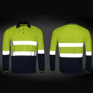 High Reflective Tape Safetywear Long Sleeve Polo Shirt Working Clothing pictures & photos