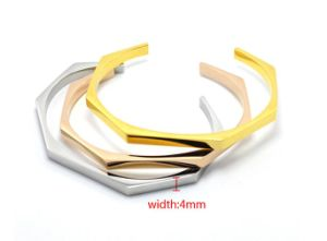 Stainless Steel Jewelry Open Cuff Bracelet Irregular Bangle pictures & photos