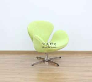 Swan Chair in Green Fabric pictures & photos
