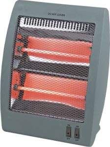 Small Electric Quartz Heater, 2 Tubes Halogen Heater Used in Small Room