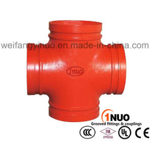 Ductile Iron 300 Psi Grooved Mechanical Cross with FM/UL/Ce Certificates pictures & photos