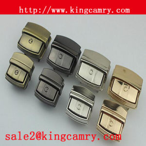 Metal Push Button Lock Press Lock Metal Insert Handbag Lock pictures & photos
