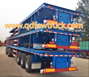 Truck Trailer Manufacturers Sell Flatbed Container Semi Trailer pictures & photos