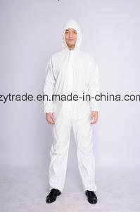 Disposable Hooded Dustproof Asbestos Protective Coverall pictures & photos