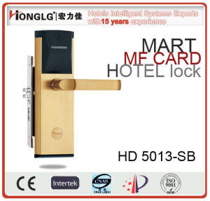 High Security Hotel Card Key Door Lock for Five-Stars Hotel (HD5013) pictures & photos