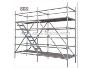 Special Painted Ring Lock Scaffolding System with Galvanized Connection Part pictures & photos