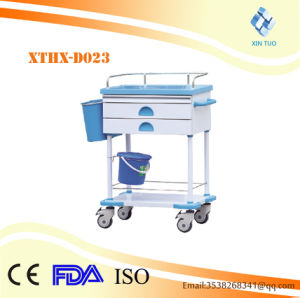 Factory Direct Price Cheap Useful Hospital Furniture Stainless Steel Therapy Trolley pictures & photos