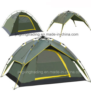 Waterproof Automatic Polyester Camp Tent for 3 - 4 Persons (JX-CT023-1) pictures & photos