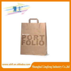 Fashion Design Kraft Paper Bag with Handle