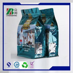 Plastic Flat Bottom Box Pouch with Zipper pictures & photos
