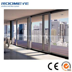 Roomeye Interior or Exterior Aluminum Tempered Glass Aluminium Sliding Door pictures & photos