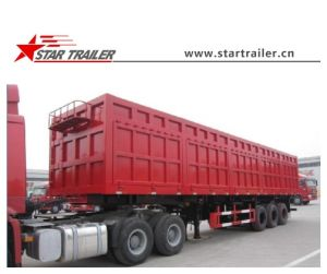3 Axles Side Dump Semi Trailer pictures & photos