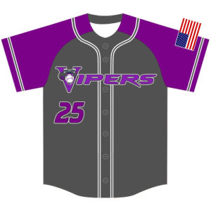 Personalized Design Sublimation Printed Baseball Tops for Team pictures & photos